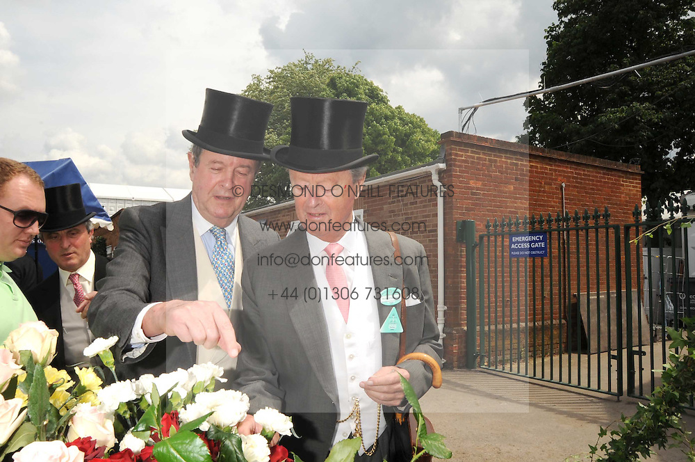 Left to right, brothers LORD CHARLES SPENCER-CHURCHILL and the DUKE OF MARLBOROUGH at the 1st day of the 2008 Royal Ascot racing festival on 17th June 2008.<br /><br />NON EXCLUSIVE - WORLD RIGHTS