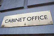 The Cabinet office, a department of the British government responsible for supporting the Prime Minister and the Cabinet.