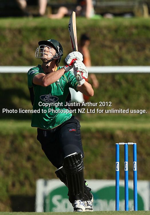 Michael Mason in action. Ford Trophy Final - Men's domestic one day cricket, Central Stags v Auckland Aces, Pukekura Park, New Plymouth, New Zealand on Sunday 12 February 2012. Photo: Justin Arthur / Photosport.co.nz