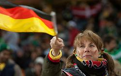 02.07.2010, Soccer City Stadium, Johannesburg, RSA, FIFA WM 2010, Viertelfinale, Uruguay (URU) vs Ghana (GHA) im Bild German Fan, EXPA Pictures © 2010, PhotoCredit: EXPA/ Sportida/ Vid Ponikvar, ATTENTION! Slovenia OUT