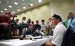 Manti Te'o was popular at freshman media day in 2009.