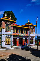 Inde, Bengale Occidental, Darjeeling, le monastere Bhutia Busty gompa // India, West Bengal, Darjeeling, Bhutia Busty Monastery (Gompa in tibetan)