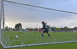 Sin&eacute;ad Donovan slots home a penalty for Republic of Ireland U16 against Lithuania at Solar 21 Park, Mayo.<br />Pic Conor McKeown