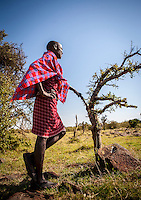 Portrait of Masai guide, Masai Mara, Kenya.