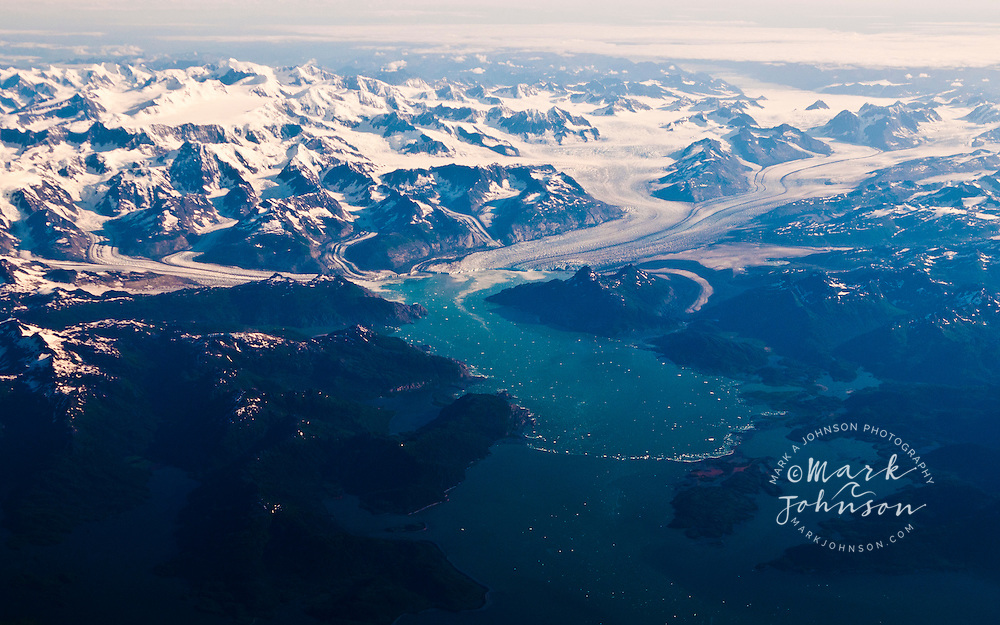 Aerial view of Wrangell-St. Elias National Park, Alaska