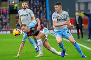 Burnley defender Charlie Taylor (3) during the Premier League match between Burnley and West Ham United at Turf Moor, Burnley, England on 30 December 2018.