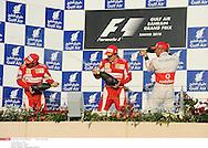 Grand prix de Bahraïn 2010..Circuit de shakir. 14 mars 2010..Course..Photo Stéphane Mantey/ L'Equipe. *** Local Caption *** massa (felipe) - (bre) -..alonso (fernando) - (esp) - ..hamilton (lewis) - (gbr) -