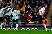 Photo: Alan Crowhurst.<br />England U21 v Italy U21. International Friendly. 24/03/2007. England's David Bentley (R) celebrates his goal 1-1