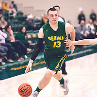 2nd year forward, Carter Millar (13) of the Regina Cougars during the Men's Basketball Home Game on Sat Nov 03 at Centre for Kinesiology,Health and Sport. Credit: Arthur Ward/Arthur Images