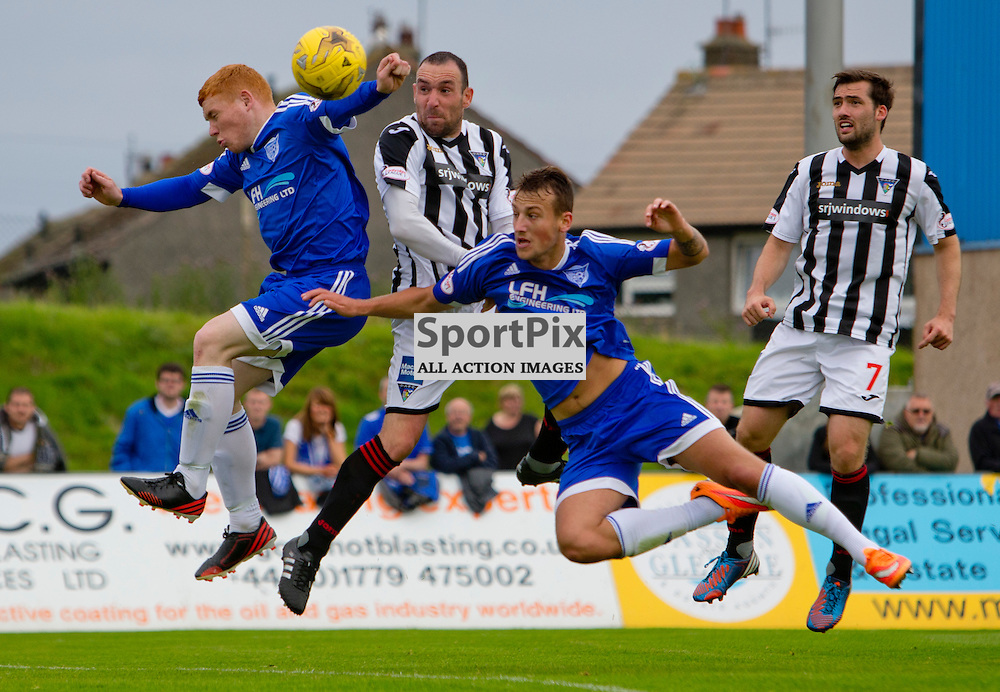Peterhead v Dunfermline Athletic SPFL League One Season 2015/16 Balmoor Stadium 22 August 2015<br /> Michael Moffat scores<br /> CRAIG BROWN | sportPix.org.uk