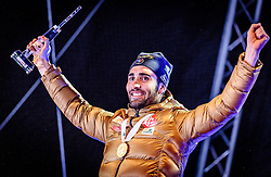 12.02.2017, Biathlonarena, Hochfilzen, AUT, IBU Weltmeisterschaften Biathlon, Hochfilzen 2017, Verfolgung Herren, Siegerehrung, im Bild Sieger und Weltmeister Martin Fourcade (FRA) // World Champion and Gold Medalist Martin Fourcade of France during Mens Winner Award Ceremony pursuit of the IBU Biathlon World Championships at the Biathlonarena in Hochfilzen, Austria on 2017/02/12. EXPA Pictures © 2017, PhotoCredit: EXPA/ JFK