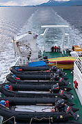 Sailing from Ushuaia, Tierra del Fuego, Argentina on the Scandinavian-built ice-breaker Akademik Sergey Vavilov, originally built for the Russian Academy of Science and still used occasionally by scientists, is now predominantly used for adventure touring in both the Arctic and the Antarctic. The ship is currently operated by a Russian crew, and staffed with employees of the adventure touring company Quark Expeditions, and carries around 100 passengers at a time. .
