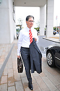 13.AUGUST.2011. LIVERPOOL<br /> <br /> LIVERPOOL FC MANAGER JOHN HENRY LEAVES THE HILTON HOTEL TO HEAD TO ANFIELD FOR LIVERPOOL FC'S FIRST GAME OF THE SEASON<br /> <br /> BYLINE: EDBIMAGEARCHIVE.COM<br /> <br /> *THIS IMAGE IS STRICTLY FOR UK NEWSPAPERS AND MAGAZINES ONLY*<br /> *FOR WORLD WIDE SALES AND WEB USE PLEASE CONTACT EDBIMAGEARCHIVE - 0208 954 5968*