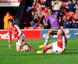 Bristol City's Joe Bryan is fouled by Walsall's James O'Connor  - Photo mandatory by-line: Joe Meredith/JMP - Mobile: 07966 386802 - 04/10/2014 - SPORT - Football - Walsall - Bescot Stadium - Walsall v Bristol City - Sky Bet League One