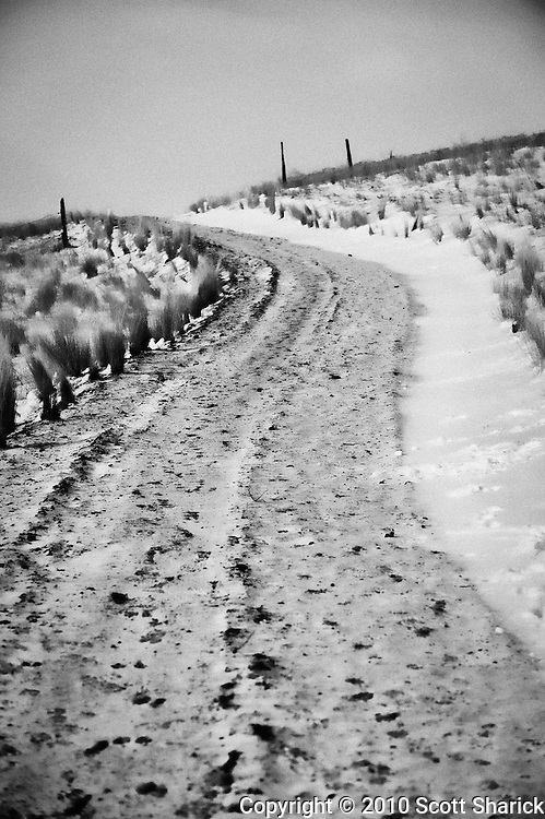 The snow covered trail leading around Waterowrks Hill in Missoula, Montana. Missoula Photographer, Montana Photographer, Pictures of Missoula, Montana Photos