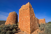 Morning light on Hovenweep Castle Ruins, Hovenweep National Monument, Utah USA