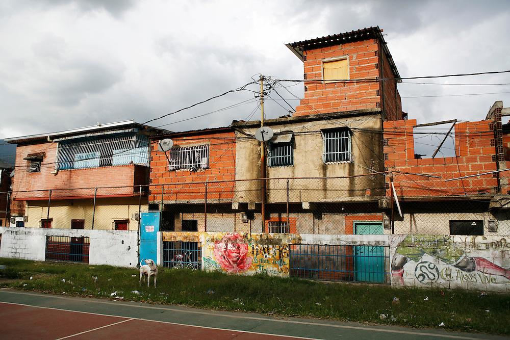 Homes in the 23 de Enero barrio in Caracas.
