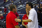 USA Women's head coach Geno Auriemma before the start of the 2012 USA Women's Basketball Team versus Brazil at Verizon Center in Washington, DC.  July 16, 2012  (Photo by Mark W. Sutton)