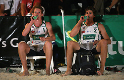 Tine Urnaut and Matevz Kamnik (Vital Pro Team) at qualifications for 14th National Championship of Slovenia in Beach Volleyball and also 4th tournament of series TUSMOBIL LG presented by Nestea, on July 25, 2008, in Kranj, Slovenija. (Photo by Vid Ponikvar / Sportal Images)/ Sportida)