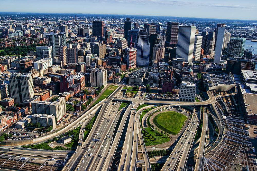 Downtown Boston @ Interstates 90 & 93 Interchange
