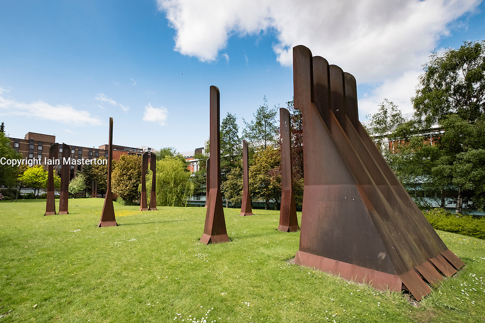 Sculpture garden at University of Strathclyde in Glasgow, Scotland, united Kingdom