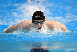 Max Litchfield competes in the Men's Open 400m Individual Medley Final during day three of the 2017 British Swimming Championships at Ponds Forge, Sheffield.
