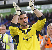 Julian Speroni applauds the away support at the end - Crystal Palace v Dundee - Julian Speroni testimonial match at Selhurst Park<br /> <br />  - © David Young - www.davidyoungphoto.co.uk - email: davidyoungphoto@gmail.com