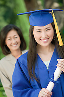 Young Woman and Mother at Graduation