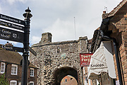 Rye, East Sussez, England, UK, May 4 2019 - In the streets of Rye, a medieval town in the Rother district