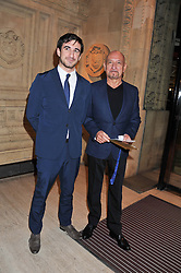 Left to right, FERDINAND KINGSLEY and his father SIR BEN KINGSLEY at Cirque du Soleil's VIP night of Kooza held at the Royal Albert Hall, London on 8th January 2013.