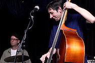 Brian Aylor (left) and Steve Perakis perform at Peach's Grill in Yellow Springs, Saturday, November 28, 2009.
