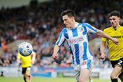 Huddersfield Town midfielder Joe Lolley (18) during the EFL Sky Bet Championship match between Huddersfield Town and Burton Albion at the John Smiths Stadium, Huddersfield, England on 1 April 2017. Photo by Richard Holmes.