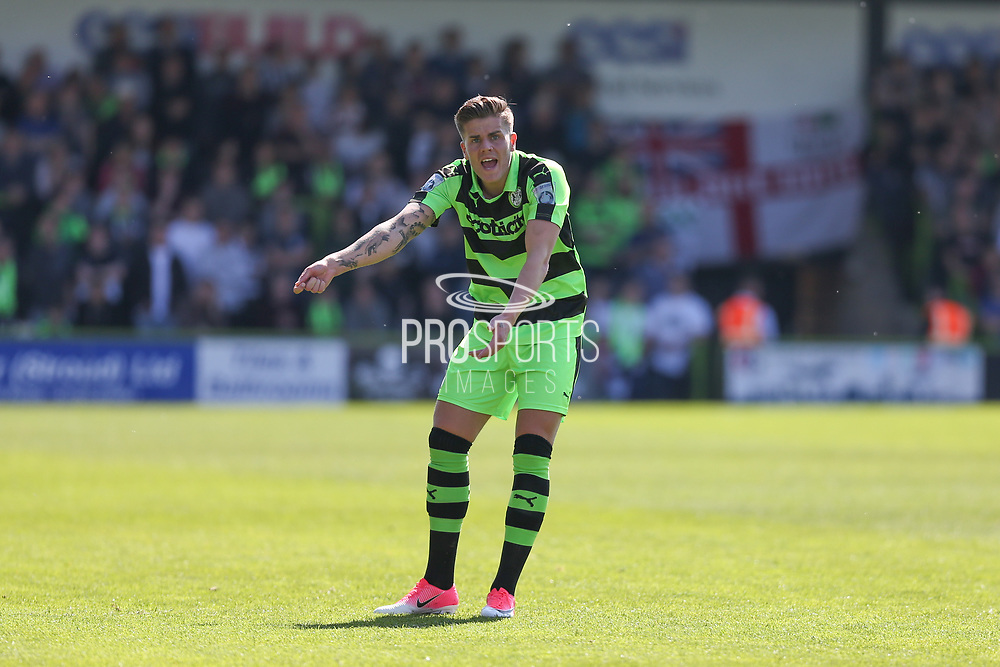 Forest Green Rovers Charlie Cooper(20) during the Vanarama National League Play Off second leg match between Forest Green Rovers and Dagenham and Redbridge at the New Lawn, Forest Green, United Kingdom on 7 May 2017. Photo by Shane Healey.