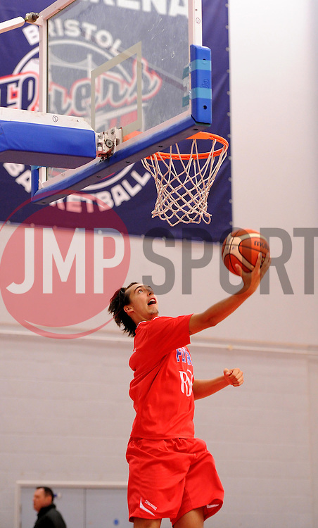 Tom Tinsley of Bristol Flyers - Photo mandatory by-line: Paul Knight/JMP - Mobile: 07966 386802 - 10/10/2015 - BASKETBALL - SGS Wise Arena - Bristol, England - Bristol Flyers v Newcastle Eagles - British Basketball League