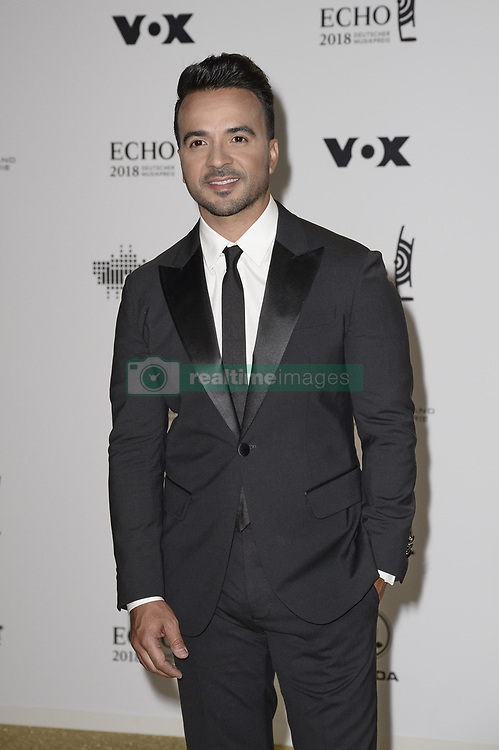 April 12, 2018 - Berlin, Germany - Luis Fonsi.Echo Pop Verleihung, Berlin, Germany - 11 Apr 2018.Credit: MichaelTimm/face to face (Credit Image: © face to face via ZUMA Press)