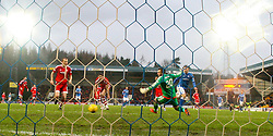 St Johnstone&rsquo;s David Wotherspoon scoring their second goal. <br /> St Johnstone 3 v 4Aberdeen, SPFL Ladbrokes Premiership played 6/2/2016 at McDiarmid Park, Perth.