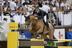 Guerdat Steve, SUI, Big Red<br /> Credit Suisse Grand Prix<br /> CHI de Genève 2016<br /> © Hippo Foto - Dirk Caremans<br /> 08/12/2016
