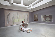 """13th Biennale of Architecture..Giardini. Biennale Pavillion..Ortner & Ortner, """"on european ground""""..Performance by DER BAU (Ernst Busch Academy of Dramatic Art, Berlin), """"Within the sound of Baucity"""" by O&O Baukunst."""