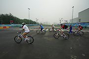 Time Trail Course, KM 2-5, urban roads leaving Olympic Park - Journalists and delegates pre-ride the 2011 Tour of Beijing Scouting Photos