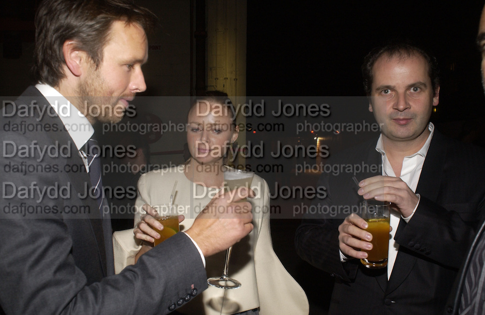 Alasdair Willis, Stella McCartney and Robin Derrick, Established and Sons UK Launch during Design Week. The Bus Depot, Hertford Road. Hoxton. 22 September 2005.  ONE TIME USE ONLY - DO NOT ARCHIVE © Copyright Photograph by Dafydd Jones 66 Stockwell Park Rd. London SW9 0DA Tel 020 7733 0108 www.dafjones.com