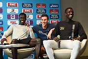 Pierre-Ambroise Bosse (FRA) Joseph Deng (AUS) and Peter Bol (AUS) during press conference of Meeting de Paris 2018, Diamond League, at Hotel Marriott, in Paris, France, on June 29, 2018 - Photo Jean-Marie Hervio / KMSP / ProSportsImages / DPPI