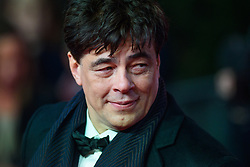 Benicio del Toro attending the european premiere of Star Wars: The Last Jedi held at The Royal Albert Hall, London. Picture date: Tuesday December 12, 2017. See PA story SHOWBIZ StarWars. Photo credit should read: Matt Crossick/PA Wire