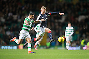 Dundee's Mark O'Hara goes past Celtic's Emilio Izaguirre - Celtic v Dundee in the Ladbrokes Scottish Premiership at Celtic Park, Glasgow. Photo: David Young<br /> <br />  - © David Young - www.davidyoungphoto.co.uk - email: davidyoungphoto@gmail.com