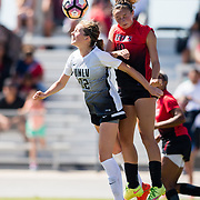 24 September 2017:  The San Diego State women's soccer team took on UNLV and lost 1-0 at the Aztec Sports Deck Sunday afternoon.  <br /> www.sdsuaztecphotos.com