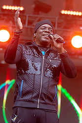 May 25, 2018 - Napa, California, U.S - PHILIP BAILEY of Earth, Wind and Fire during BottleRock Music Festival at Napa Valley Expo in Napa, California (Credit Image: © Daniel DeSlover via ZUMA Wire)