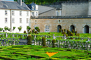 Gardens at Chateau de Villandry, Villandry, Loire Valley, France