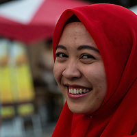 September10,2016,TOKYO an Indonesian woman came at Arabia  festival  before to  celebrate Eid al-Adha  ( the sacrifice of animal i)one of the most important event for Muslim people  copyright Pierre Boutier<br /> <br /> <br /> k.Pierre Boutier