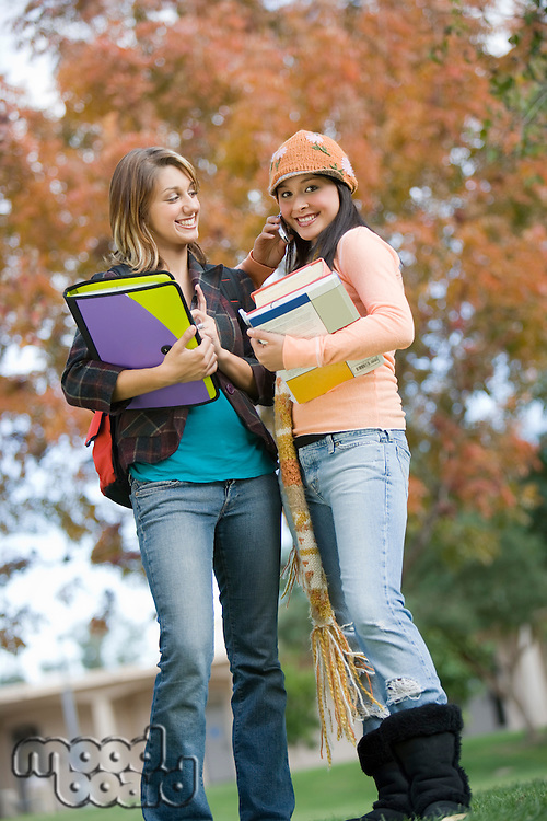 Two young female students