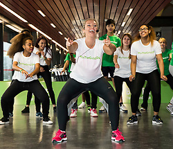"© Licensed to London News Pictures. LONDON UK 26/11/14. Former Big Brother winner Josie Gibson at the Copper Box Arena where she launched 'For the Girls"" a national campaign designed to encourage women and girls to take regular exercise"". Photo credit : ANDREW BAKER/LNP"