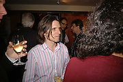JEREMY DELLER, Sir Peter Blake and Poppy De Villeneuve host a party with University of the Arts London at the Arts Club, Dover Street, London. 20 APRIL 2006<br />